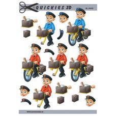 Quickies 3 d - Postbud - Rød og Blå