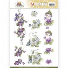 Udstanset - Blooming Summer - Blomst - Pige