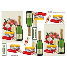 Diverse - Tillykke med uddannelsen - Champagne og bevis
