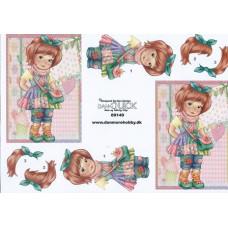 Børn - Pige med taske