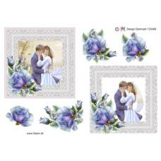 Bryllup - Brudepar i ramme