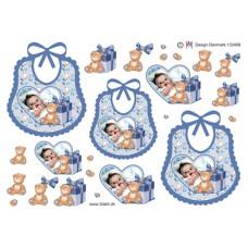 Barnedåb/Baby - Hagesmæk med dreng i hjerte