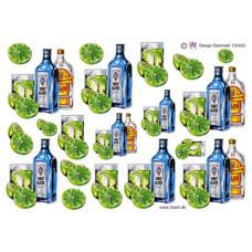 Glas/Flasker - Dry Gin flasker og glas