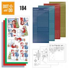 Hobbydots Pakke 216 - Yvonne Creation - Jul - Damer med snemænd
