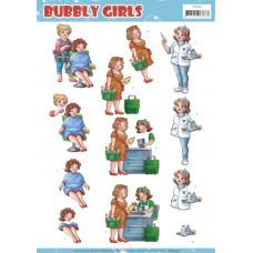 Yvonne Creation - Bubbly Girls - Frisør - Sygeplejeske og Kassedame