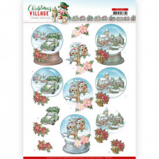 Yvonne Creation - Christmas Village - Motiver i Kugle