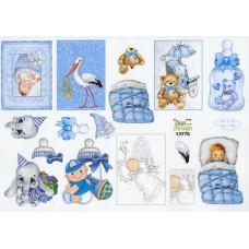 Barnedåb/Baby - Dreng - Motiver til små kort