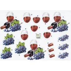 Flasker/Glas- Rødvin - Druer  - Glas - Flaske