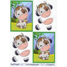 Dyr - Ko med høretelefon
